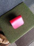 ムックの店のショートウォレット 2つ折り財布  コードバン レッド